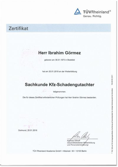 KFZ-Schadengutachter-Herford